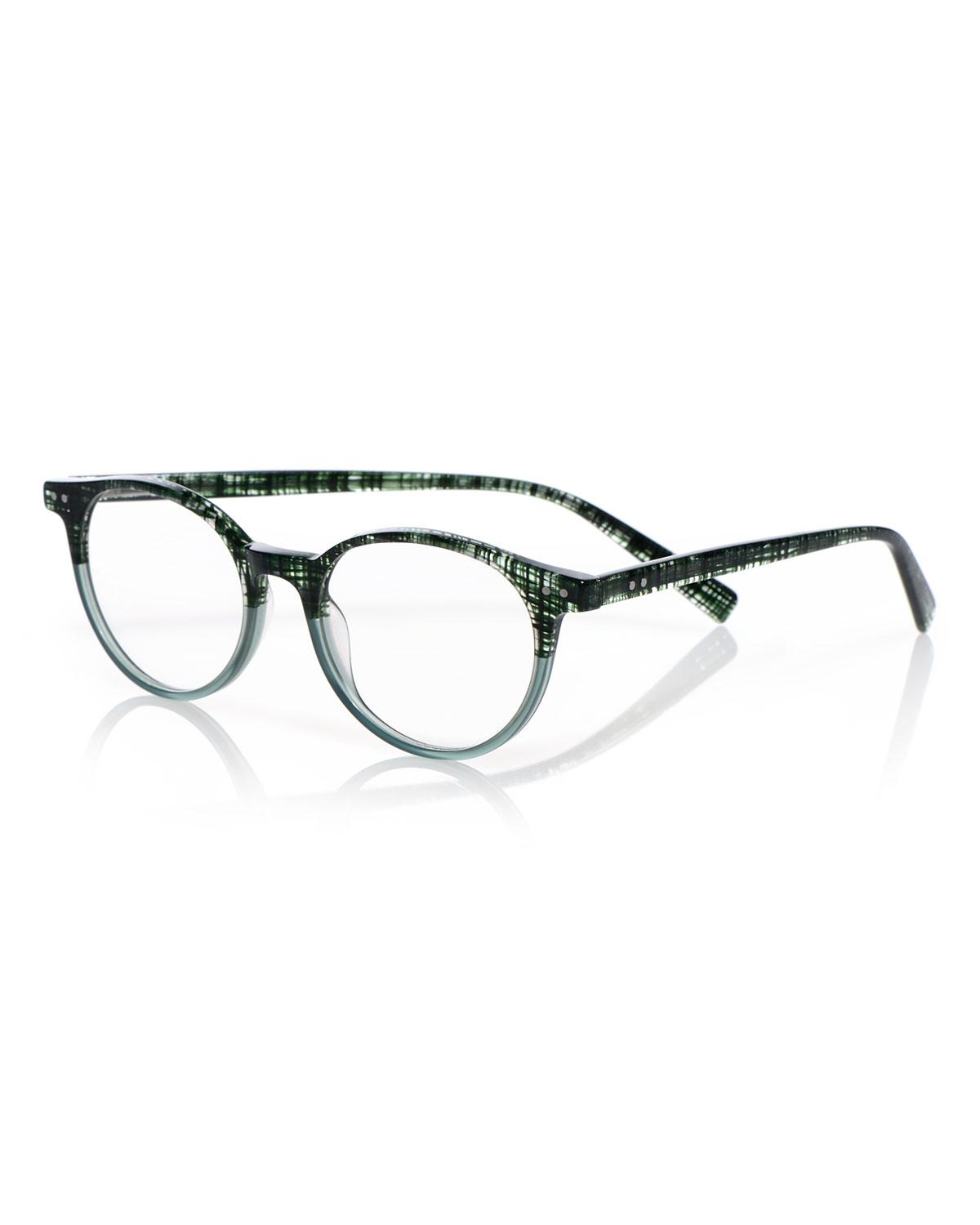 02198c3db10 Eyebobs Case Closed Plaid Acetate Reading Glasses In Green