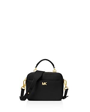 fd37cace772e80 Michael Michael Kors Mott Pebbled Leather Crossbody Bg - Black ...