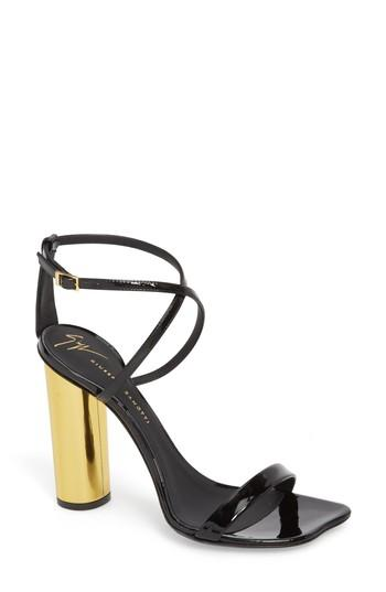 Giuseppe Zanotti Round Heel Sandal In Black