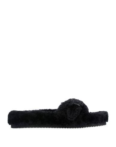 Alexander Wang Bee Genuine Shearling Slide Sandal In Black