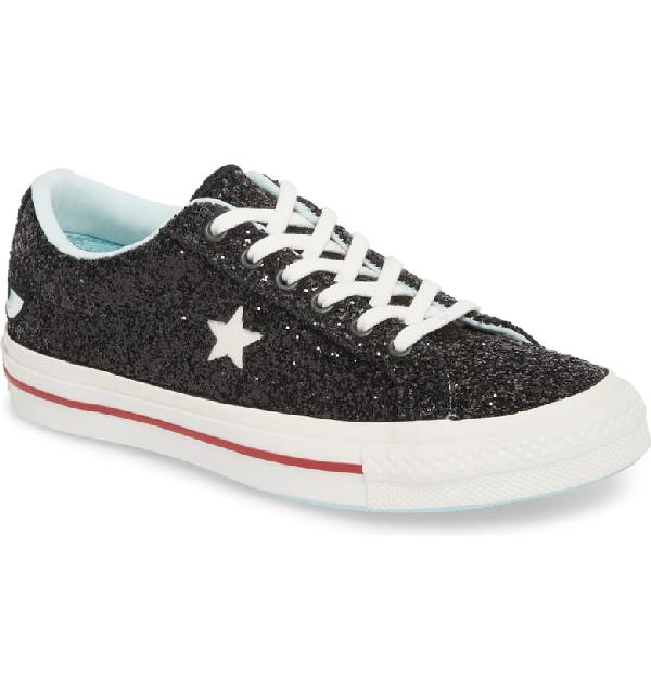 2fc9212fdc77 Converse Women's One Star Ox X Chiara Ferragni Glitter Sneakers In Black