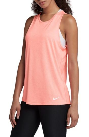 Nike Dry Training Tank In Light Atomic Pink/ Heather