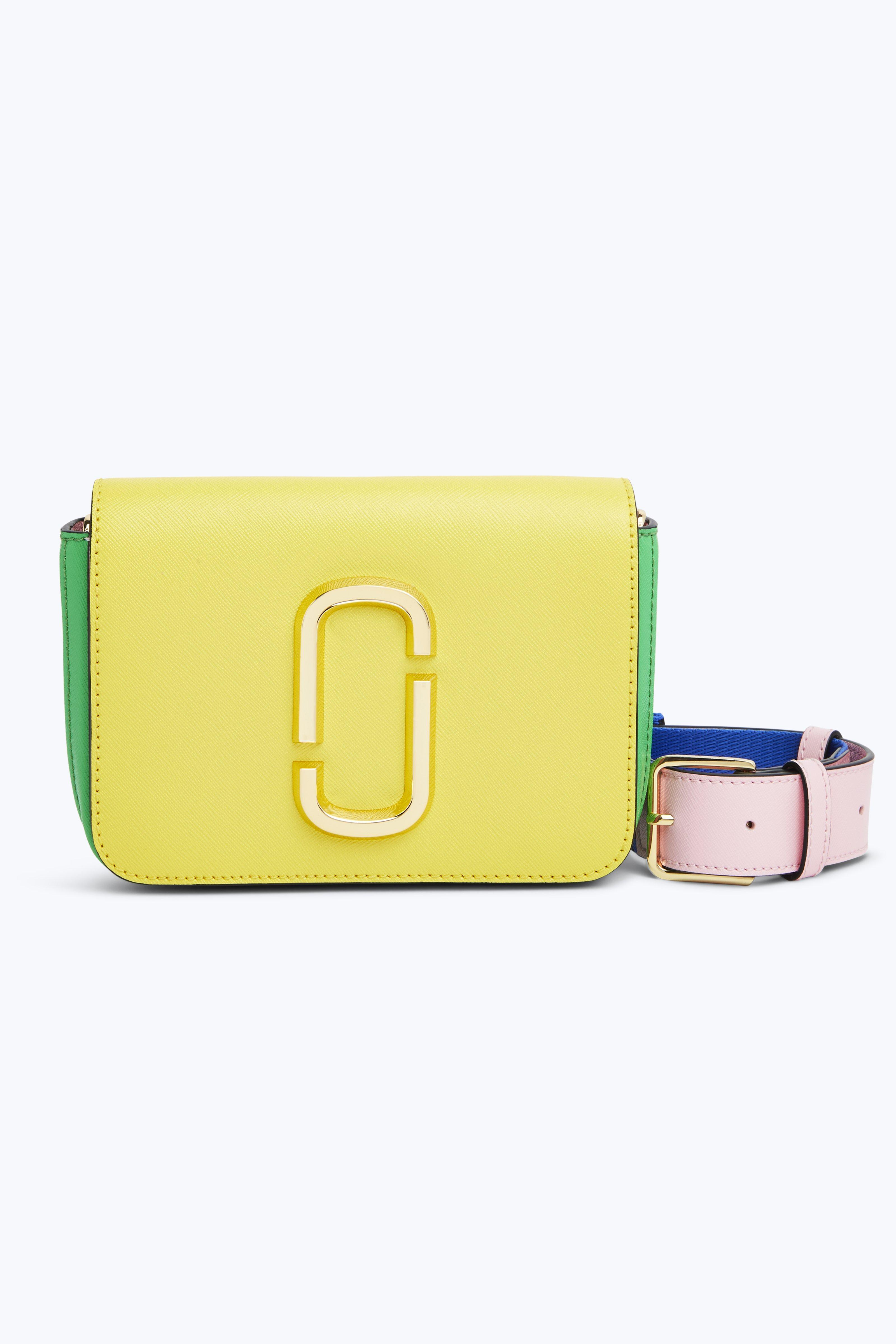 7cdecf395d27 Marc Jacobs Saffiano Leather Hip Shot Convertible Shoulder Belt Bag In  Daisy Yellow Multi