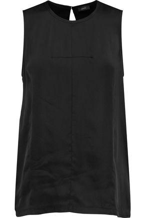 Joseph Woman Debardeur Silk And Cotton-blend Top Black