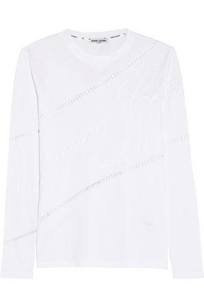 Opening Ceremony Woman Cutout Embroidered Cotton-jersey Top White