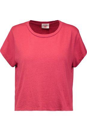 Re/done Woman + Hanes 1950s Distressed Cotton-jersey T-shirt Red