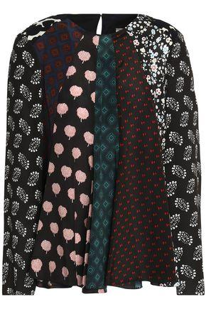 Lanvin Woman Fluted Printed Silk Crepe De Chine Blouse Multicolor