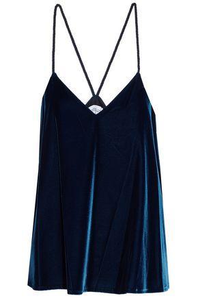 Derek Lam 10 Crosby Woman Velvet Camisole Navy