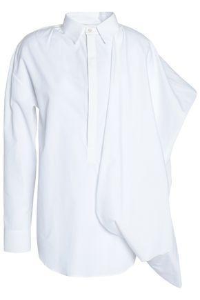 Chalayan Woman Asymmetric Draped Cotton-poplin Shirt White