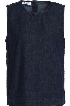 Equipment Woman Cotton-chambray Top Dark Denim