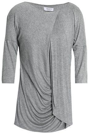 Bailey44 Woman Draped Gathered Stretch-jersey Top Gray