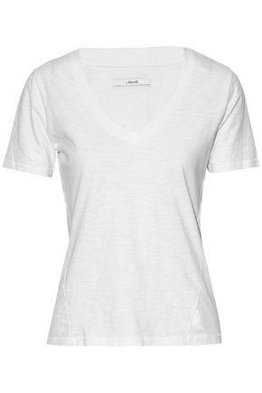 J Brand Woman Slub Cotton-jersey T-shirt White
