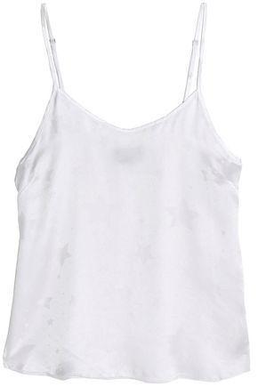 Rta Woman Silk-jacquard Top White