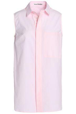 Acne Studios Woman Cotton-poplin Shirt Pink
