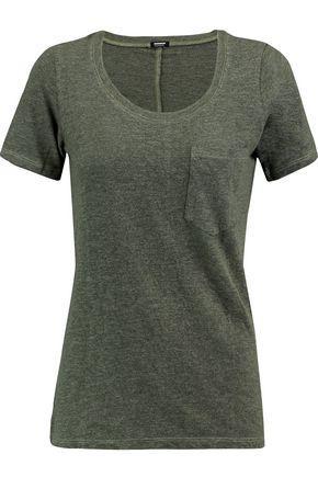 Monrow Woman MÉlange Jersey T-shirt Army Green