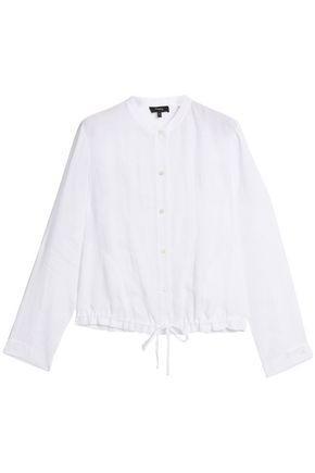 Theory Woman Gathered Linen Shirt White