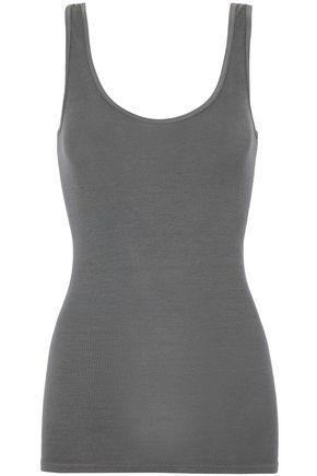 Enza Costa Woman Ribbed Stretch-knit Tank Anthracite