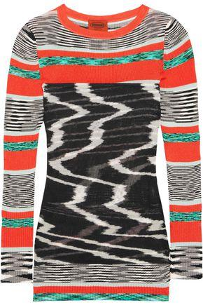 Missoni Woman Stretch-knit Top Black