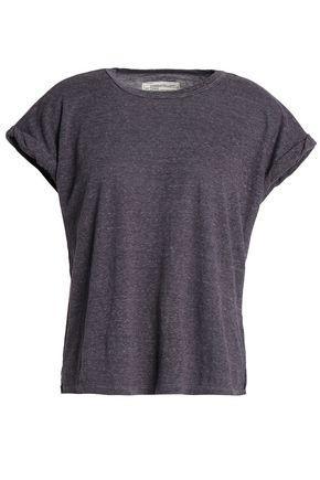 Current Elliott Woman The Rolled Crew Slub Jersey T-shirt Dark Gray