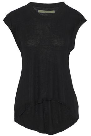 Enza Costa Woman Ribbed Stretch-jersey Top Black