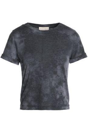 Alice And Olivia Woman Tie-dye Jersey T-shirt Dark Gray