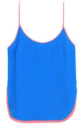Emilio Pucci Woman Silk Crepe De Chine Camisole Blue