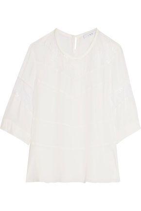Iro Woman Lace And Chiffon Top White