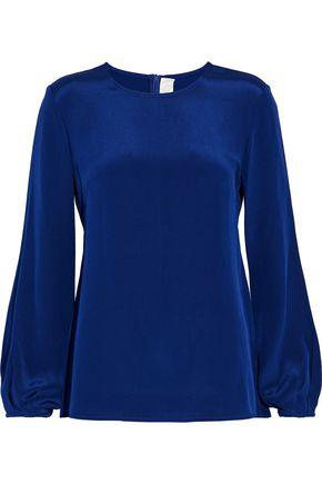 Goat Woman Elspeth Silk Blouse Royal Blue