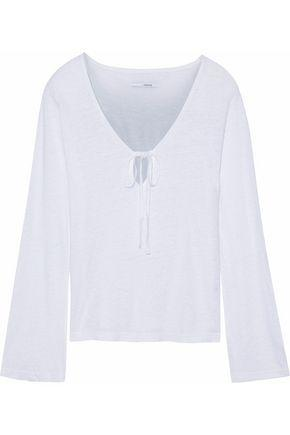 J Brand Woman Slub Linen Top White