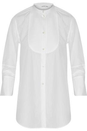 Helmut Lang Woman PiquÉ-paneled Cotton-poplin Shirt White