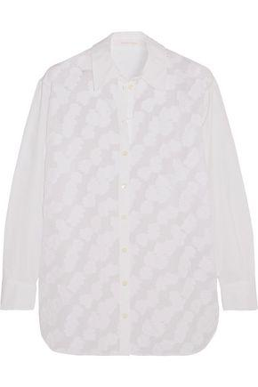 See By ChloÉ Woman AppliquÉd Mesh Cotton Shirt White