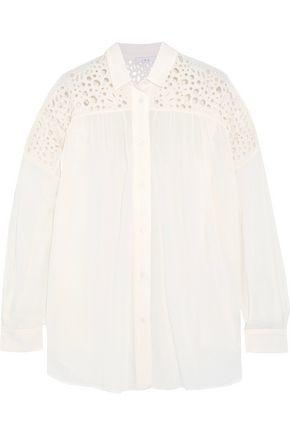 Iro Woman Broderie Anglaise And Voile Shirt Off-white