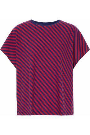 Sleepy Jones Woman Striped Cotton-jersey Pajama Top Red