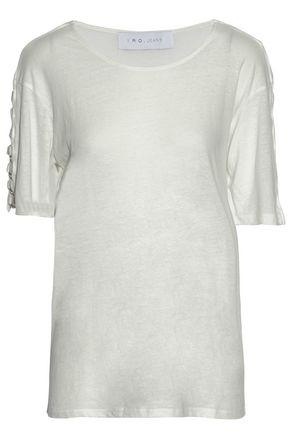 Iro Woman Ring-embellished Slub Stretch-jersey Top White