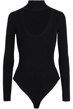 Cushnie Et Ochs Cushnie Woman Cutout Ribbed-knit Bodysuit Black
