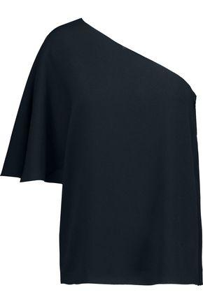 Tibi Woman Savanna One-shoulder Crepe Top Midnight Blue