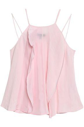 Belstaff Woman Ruffled Satin, CloquÉ And Cady Camisole Baby Pink