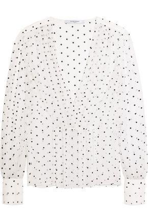 Givenchy Woman Cross-print Blouse In Silk-gauze White