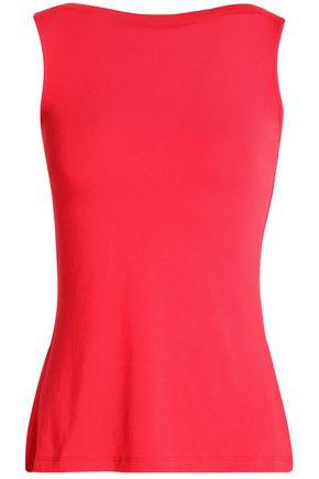 Bailey44 Woman Lattice-trimmed Stretch-jersey Top Red