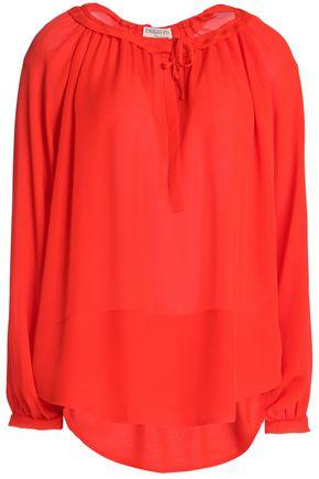 Emilio Pucci Woman Gathered Silk Crepe De Chine Blouse Red