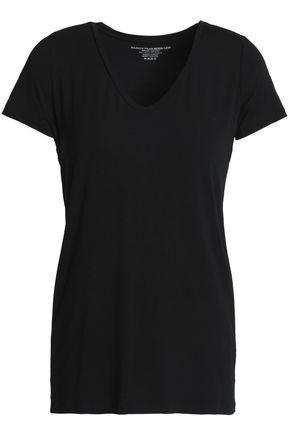 Majestic Woman Stretch-jersey T-shirt Black