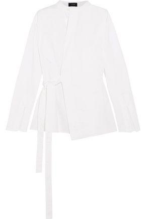 Joseph Woman Andy Cotton-poplin Wrap Shirt White