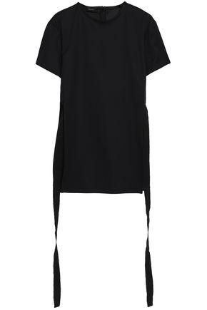 Ellery Woman Draped Cotton-jersey T-shirt Black
