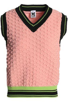 M Missoni Crochet-knit Sweater In Blush