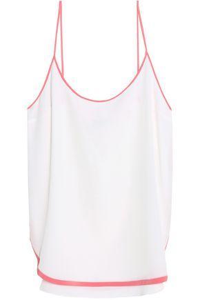 Emilio Pucci Woman Silk Crepe De Chine Camisole White