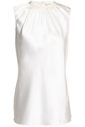 Sachin & Babi Woman Gathered Silk-satin Top White