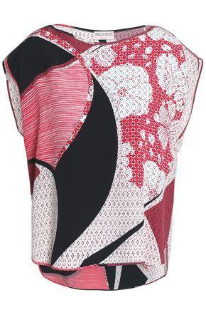 Emilio Pucci Woman Printed Silk Tunic Red