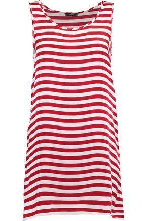 R13 Woman Striped Silk-satin Mini Dress Red