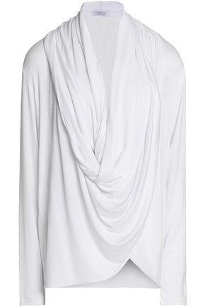 Bailey44 Woman Draped Jersey Top White