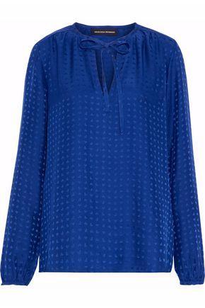 Vanessa Seward Woman Silk-jacquard Top Royal Blue